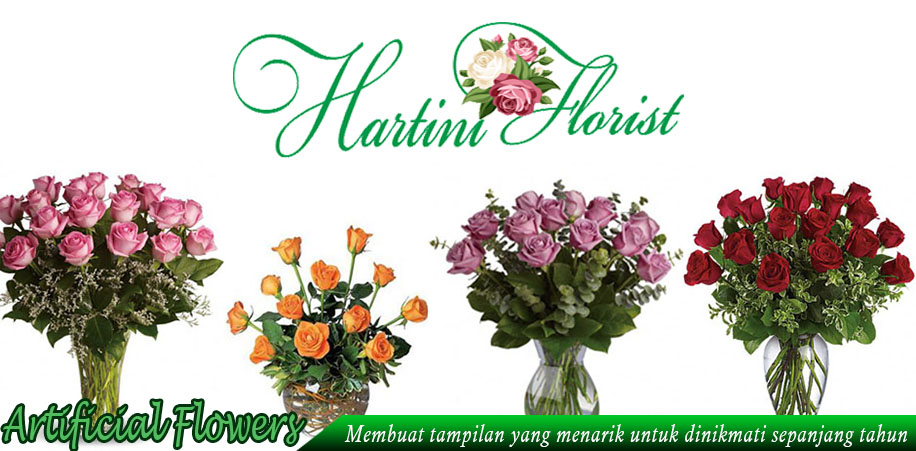 Bunga buatan artificial flower atau bunga artificial