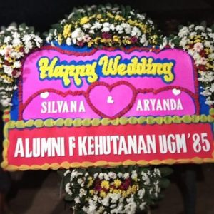 bunga papa wedding alumni fakultas kehutanan UGM