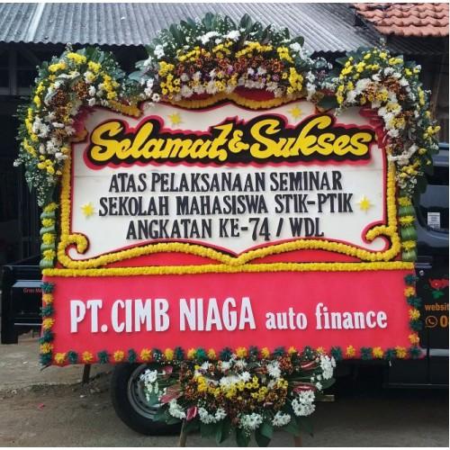 papan bunga ucapan selamat sukses dari PT CIMB Niaga auto finance