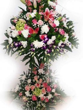 Standing Flower Pernikahan Murah Full Bunga