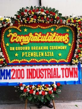 Bunga papan congratulations mm2100 industrial town
