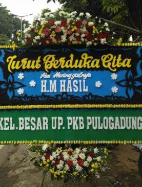 Karangan Bunga Papan Ucapan Turut Berduka Cita Dari Kel.Besar UP PKB Pulogadung