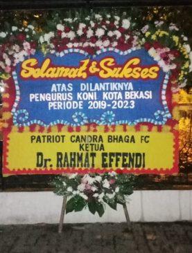 bunga ucapan selamat dilantiknya pengurus koni kota bekasi dr.rahmat effendi