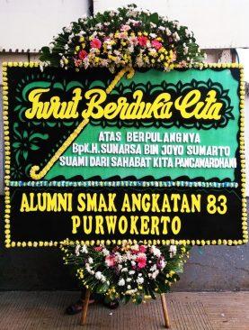 karangan bunga turut berduka cita alumni SMAK Angkatan 83 purwokerto