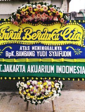 Karangan Bunga Turut Berduka Cita Dari Pt. Jakarta akuarium indonesia